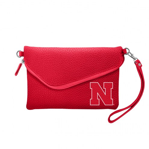 Nebraska Cornhuskers Pebble Fold Over Purse