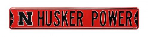 Nebraska Cornhuskers Power Street Sign