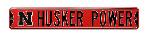 Nebraska Cornhuskers Power Street Sign