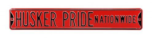 Nebraska Cornhuskers Pride Street Sign