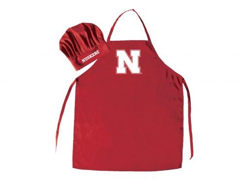 Nebraska Cornhuskers Apron & Chef Hat