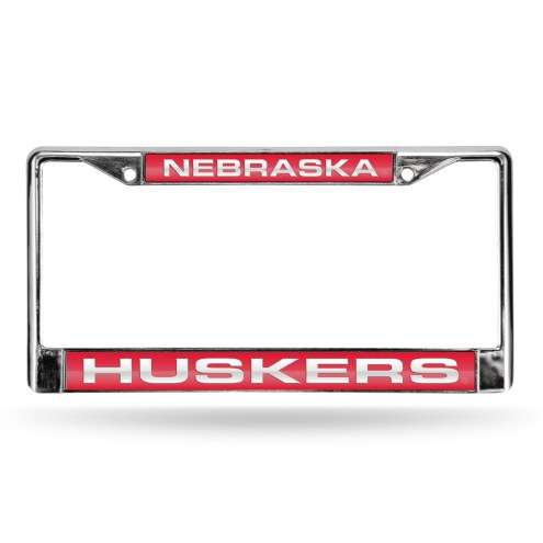Nebraska Cornhuskers Laser Chrome License Plate Frame