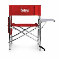 Nebraska Cornhuskers Red Sports Folding Chair
