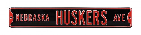 Nebraska Cornhuskers Red Street Sign