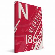 Nebraska Cornhuskers Retro Canvas Print