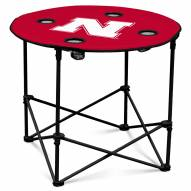 Nebraska Cornhuskers Round Folding Table