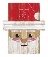 Nebraska Cornhuskers Santa Ornament