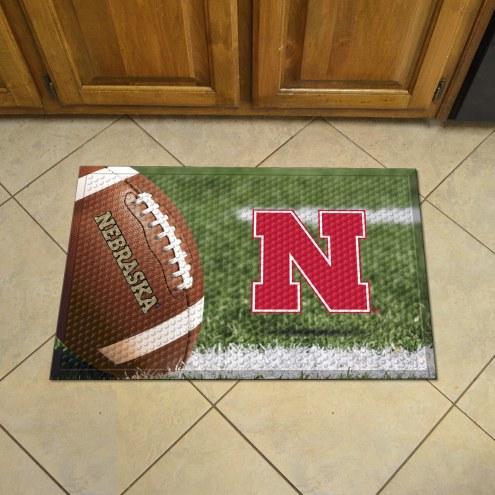 Nebraska Cornhuskers Scraper Door Mat