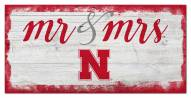 Nebraska Cornhuskers Script Mr. & Mrs. Sign