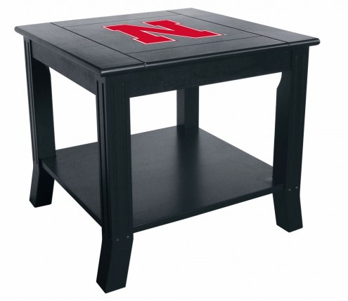 Nebraska Cornhuskers Side Table