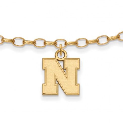 Nebraska Cornhuskers Sterling Silver Anklet