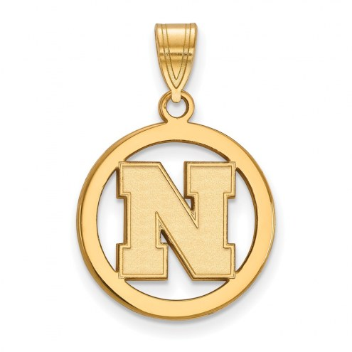 Nebraska Cornhuskers Sterling Silver Gold Plated Small Pendant