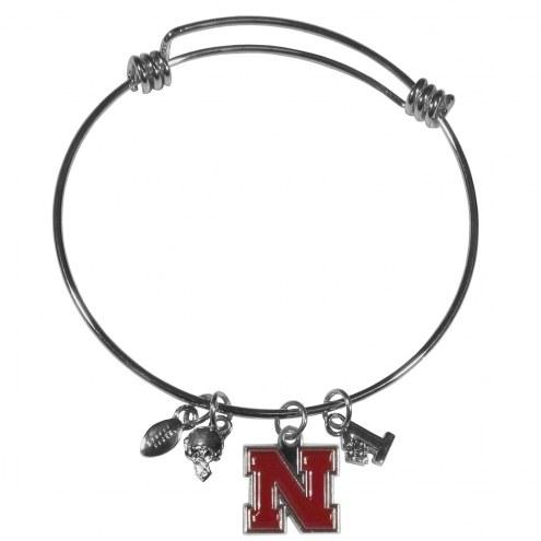 Nebraska Cornhuskers Charm Bangle Bracelet