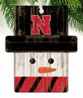 Nebraska Cornhuskers Snowman Ornament