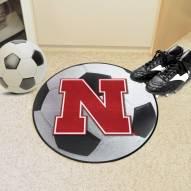 Nebraska Cornhuskers Soccer Ball Mat