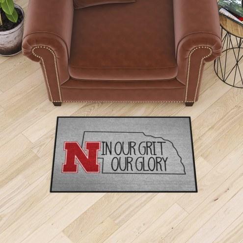 Nebraska Cornhuskers Southern Style Starter Rug