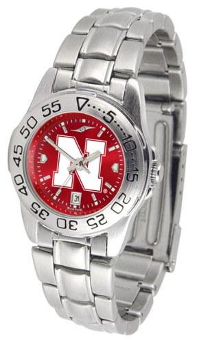 Nebraska Cornhuskers Sport Steel AnoChrome Women's Watch