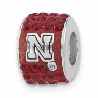 Nebraska Cornhuskers Sterling Silver Charm Bead