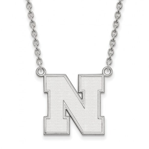 Nebraska Cornhuskers Sterling Silver Large Pendant Necklace