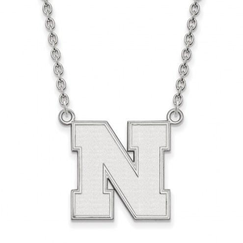 Nebraska Cornhuskers Sterling Silver Large Pendant Necklace
