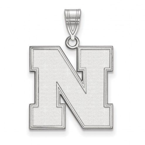 Nebraska Cornhuskers Sterling Silver Large Pendant