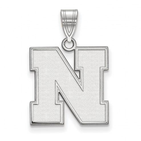 Nebraska Cornhuskers Sterling Silver Medium Pendant