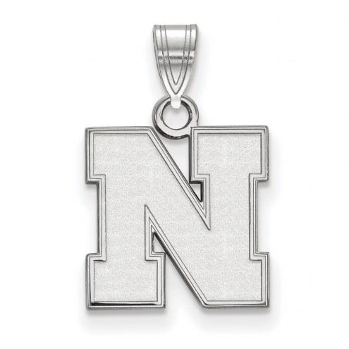 Nebraska Cornhuskers Sterling Silver Small Pendant