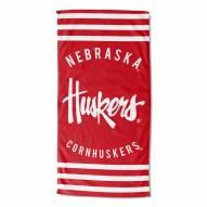 Nebraska Cornhuskers Stripes Beach Towel