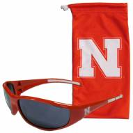 Nebraska Cornhuskers Sunglasses and Bag Set