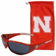 Nebraska Cornhuskers Sunglasses and Bag Set