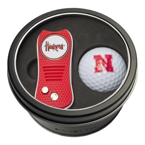 Nebraska Cornhuskers Switchfix Golf Divot Tool & Ball