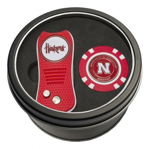 Nebraska Cornhuskers Switchfix Golf Divot Tool & Chip