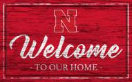 Nebraska Cornhuskers Team Color Welcome Sign