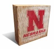Nebraska Cornhuskers Team Logo Block