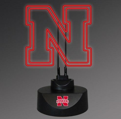 Nebraska Cornhuskers Team Logo Neon Lamp