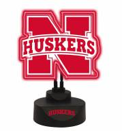 Nebraska Cornhuskers Team Logo Neon Light