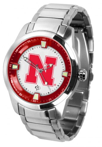 Nebraska Cornhuskers Titan Steel Men's Watch
