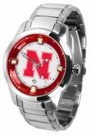 Nebraska Cornhuskers Titan Steel Men's Watch