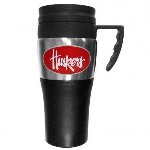 Nebraska Cornhuskers Travel Mug w/Handle