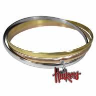 Nebraska Cornhuskers Tri-color Bangle Bracelet