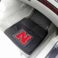 Nebraska Cornhuskers Vinyl 2-Piece Car Floor Mats