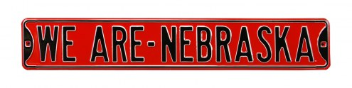 Nebraska Cornhuskers We Are Street Sign