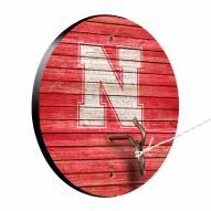 Nebraska Cornhuskers Weathered Design Hook & Ring Game
