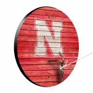 Nebraska Cornhuskers Weathered Design Hook & Ring Game