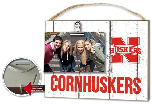 Nebraska Cornhuskers Weathered Logo Photo Frame