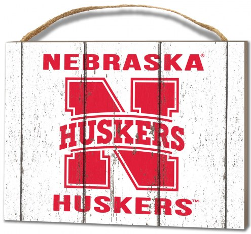 Nebraska Cornhuskers Weathered Logo Small Plaque