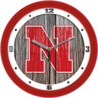 Nebraska Cornhuskers Weathered Wall Clock