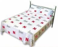 Nebraska Cornhuskers White Bed Sheets