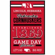 Nebraska Cornhuskers Established Wood Sign