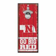 Nebraska Cornhuskers Wood Bottle Opener